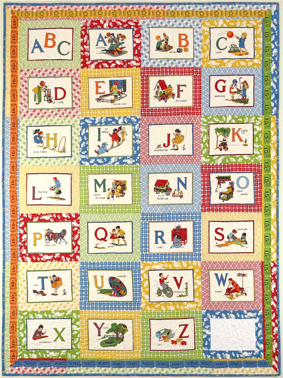 Quilt Patterns With Letters : Vintage Alphabet Quilt - Diary of a Quilter - a quilt blog