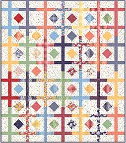 Spin Wheel Quilt Pattern Pieced BG